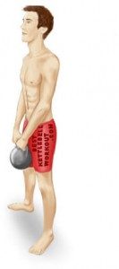 kettlebell swing, neutral position