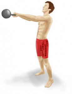 kettlebell swing high position