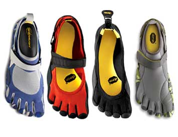 The four original Vibram Fivefingers